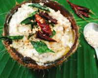 नारियल की चटनी - Coconut Chutney With Coconut Water (Recipe In Hindi)