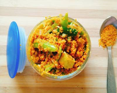 Green Chilli Pickle Recipe (Gujarati Raiwala Marcha)