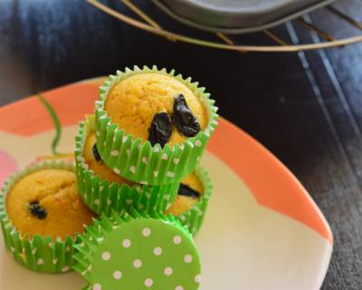 Healthy Lemon Cupcakes Recipe (Eggless)