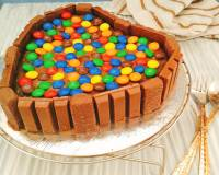 Kitkat Cake With Sponge Recipe (Eggless)