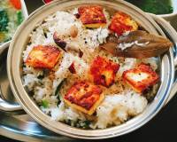 Mizoram Inspired Veg Sawhchiar Recipe-Rice Pilaf With Kashmiri Red Chillies, Bay Leaf and Paneer