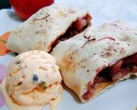 Eggless Apple Strudel Recipe With Homemade Pastry Sheet