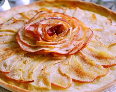 Eggless French Rosy Apple Tart Recipe