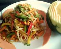 Thai Veg Papaya Salad Recipe (No Onion No Garlic)