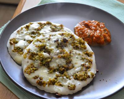 Broccoli Keema And Cheese Uttapam Recipe