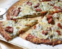 Cauliflower Crust Pizza With Pesto, Sundried Tomatoes & Goat Cheese