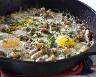 Skillet Potato And Eggs Recipe