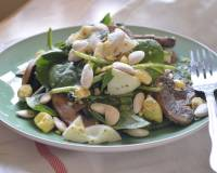 Spinach Salad Recipe With Boiled Eggs And Mushrooms