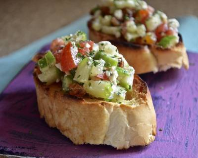 Zucchini And Feta Cheese Bruschetta Recipe