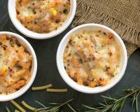 Cheesy Baked Ziti Pasta Recipe with Roasted Mushroom & Corn