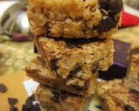 Peanut Butter And Flax Oats Bar With Chocolate Chip Recipe