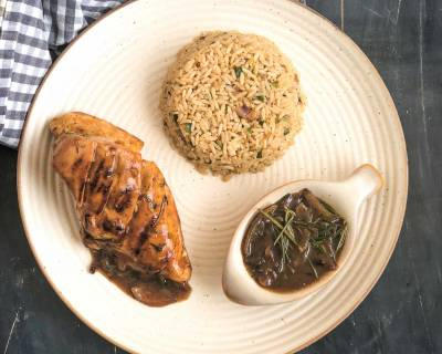 Make Your Friday Night Dinner Special With The Caramelised Onion, Rosemary Chicken & Ginger Teriyaki Rice
