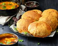 Bedmi Poori Recipe (Spiced Split Black Lentil Pooris)