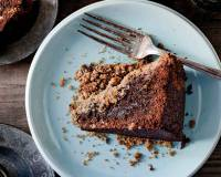 Whole Wheat Espresso Chocolate Streusel Cake Recipe