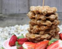 Healthy Oats Waffles Recipe