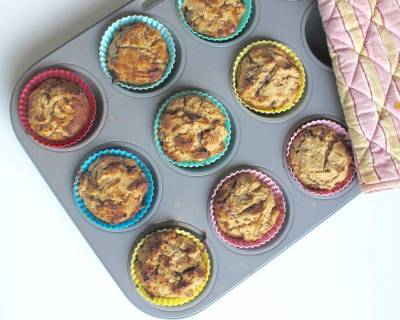 Healthy Vanilla Chocolate Chip Breakfast Muffins Recipe