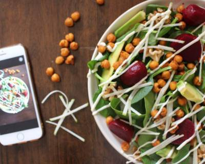 Roasted Chickpeas With Apples Salad Recipe