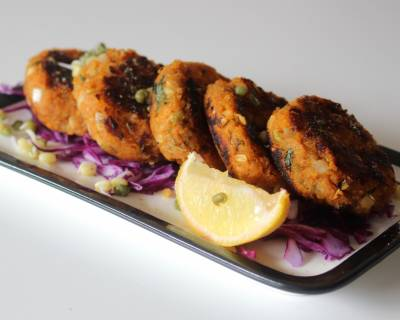 Sweet Potato And Moong Sprouts Cutlet Recipe