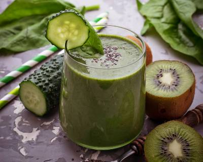 Refreshing Smoothie Recipe With Cucumber & Kiwi