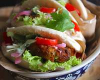 Aloo Tikki Stuffed Pita Sandwich Recipe