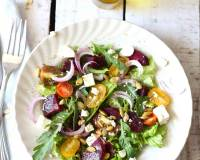 Beetroot Salad Recipe with Mixed Greens & Feta Cheese