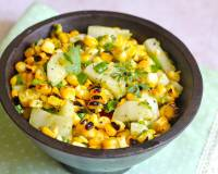 Charred Corn and Radish Salad Recipe