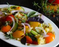 Farm Fresh Vegetarian Pasta Salad Recipe