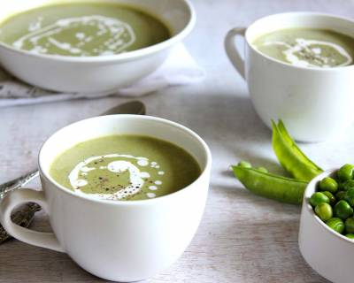 Pea And Spring Onion Soup Recipe