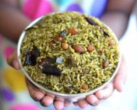 Andhra Style Gongura Pulihora Recipe - Spicy Red Roselle Leaves Rice