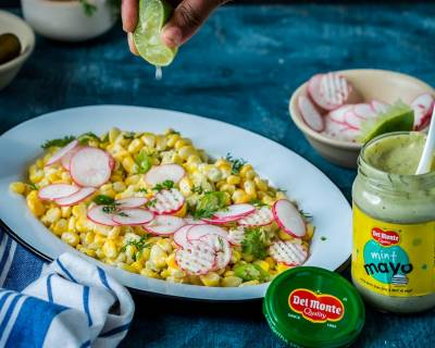 Corn Salad With Radishes, Jalapeño And Lime In Mint Mayo Recipe