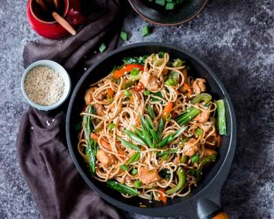 Cantonese Style Chicken Chowmein Recipe
