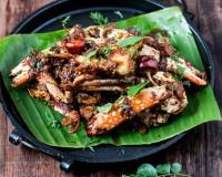 Chettinadu Nandu Varuval Recipe (Crab Fry Dry With Baby Onions)
