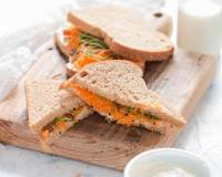 Cream Cheese Carrot Raisin Sandwich Recipe