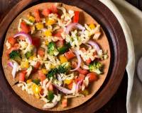 Khakara Vegetable Pizza Recipe