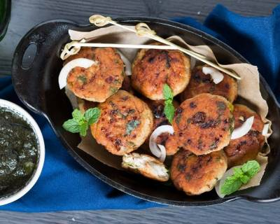 Murgh Aloo Tikki Recipe - Chicken & Potato Tikki