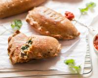 Whole Wheat Mushroom Spinach Calzone Recipe