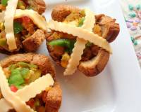 Baked Mini Bread Cups Recipe