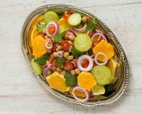 Kabuli Chana Salad Recipe With A Tangy Orange Dressing