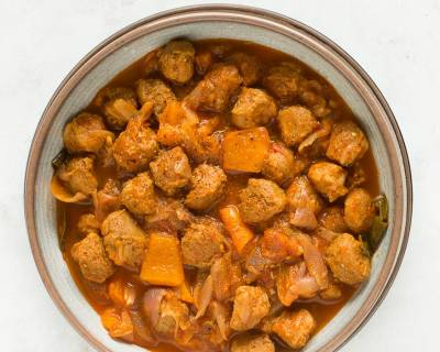 Soya Chunks Pepper Curry Recipe