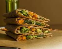 Mexican Style Broccoli Bell Pepper Cheese Quesadilla Recipe