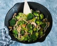 Broccoli Mushroom Bean Sprouts Stir Fry Recipe