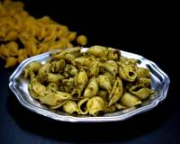 Pasta In Pudina Chutney Sauce - A Indian Fusion Recipe