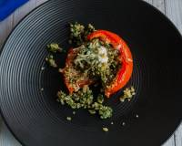Stuffed Tomatoes with Quinoa, Spinach and Cheese Recipe