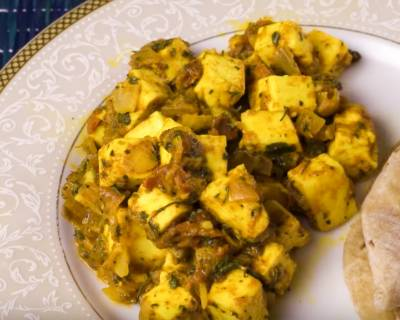 Kasuri Methi Paneer Sabzi Recipe