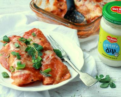 Enchiladas Stuffed With Beans and Tartare Dip Recipe