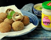 Sweet Potato Balls Recipe Stuffed With Cheesy Garlic Mayo Recipe