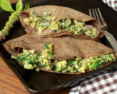 Buckwheat Crepes Stuffed With Spinach And Eggs Recipe