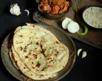 Butter Garlic Naan Recipe - Garlic Flavoured Flatbread