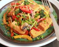 Chilli Ginger Vegetable Tofu Stir Fry Recipe
