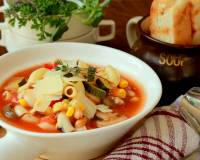 Macaroni Minestrone Soup Pot Recipe (Wholesome Italian Soup Made Using Vegetables, Beans And Macaroni)